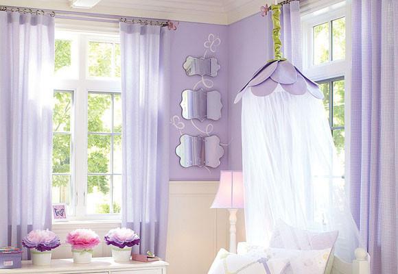 Dormitorio en color lila para las princesas de la casa - Dormitorios de nina en blanco ...