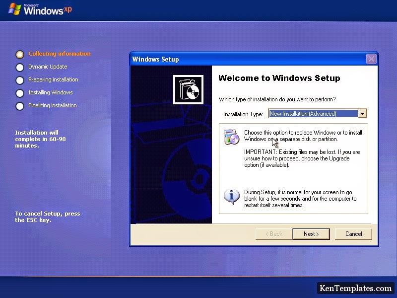 Cài đặt, repair Windows XP trực tiếp từ ổ cứng