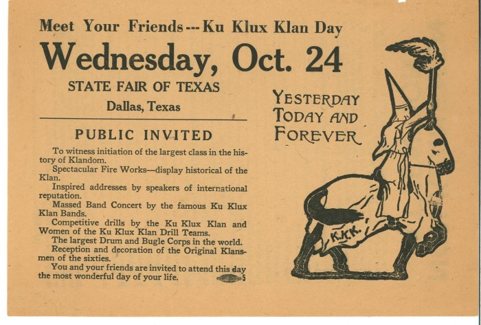 the klan of the 1930s Ku klux klan the klan initiates a new member, circa 1930 tune in hear  accounts of the ku klux klan in early twentieth-century texas in the episode that  aired.