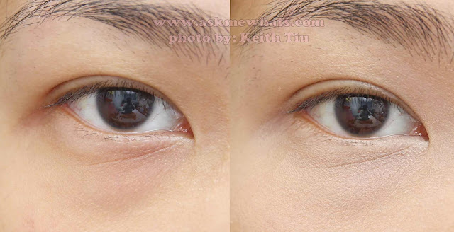 before and after photo of Amazing Cosmetics Amazing Concealer