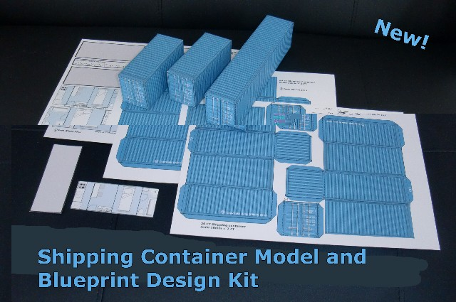 New Shipping Container Home Model Kit With Blueprint Plans