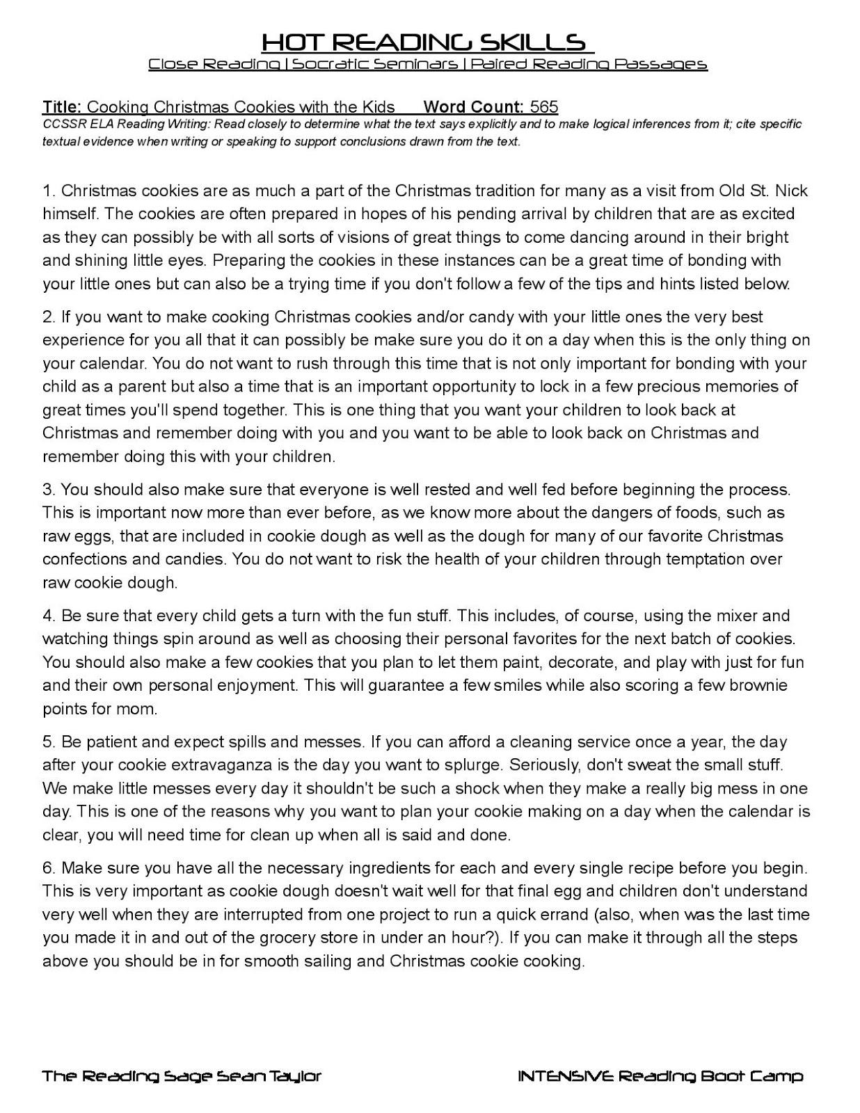 Reading Sage Close Reading Passages Free – 4th Grade Main Idea Worksheets