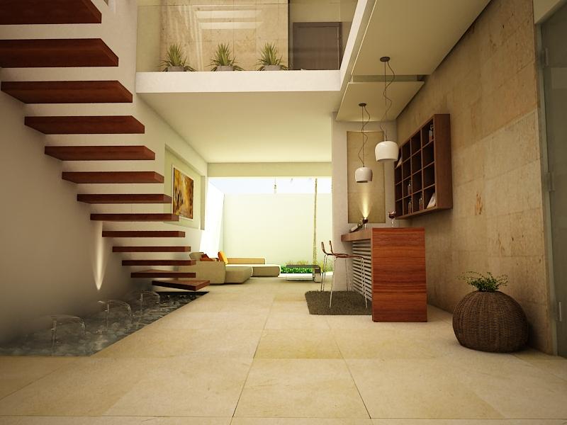 Proyectos arquitectonicos y dise o 3 d dise o interior - Balcones interiores casa habitacion ...