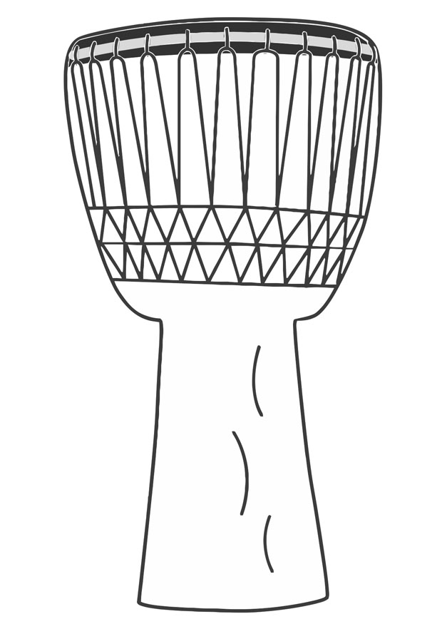 rhythm instrument coloring pages - photo#7