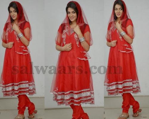 Sakshi Choudary Red Salwar