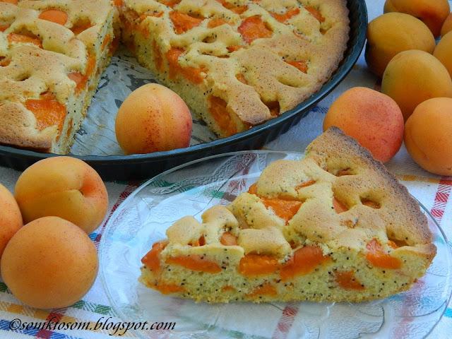 Marhuľový koláč (bublanina) s makom