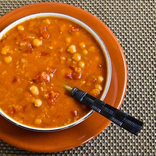 Slow Cooker Red Lentil, Chickpea, and Tomato Soup with ...