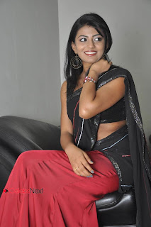 Haasika Picture Gallery in Black Saree at Prema Katha Chitram Audio Release Function  0030.jpg