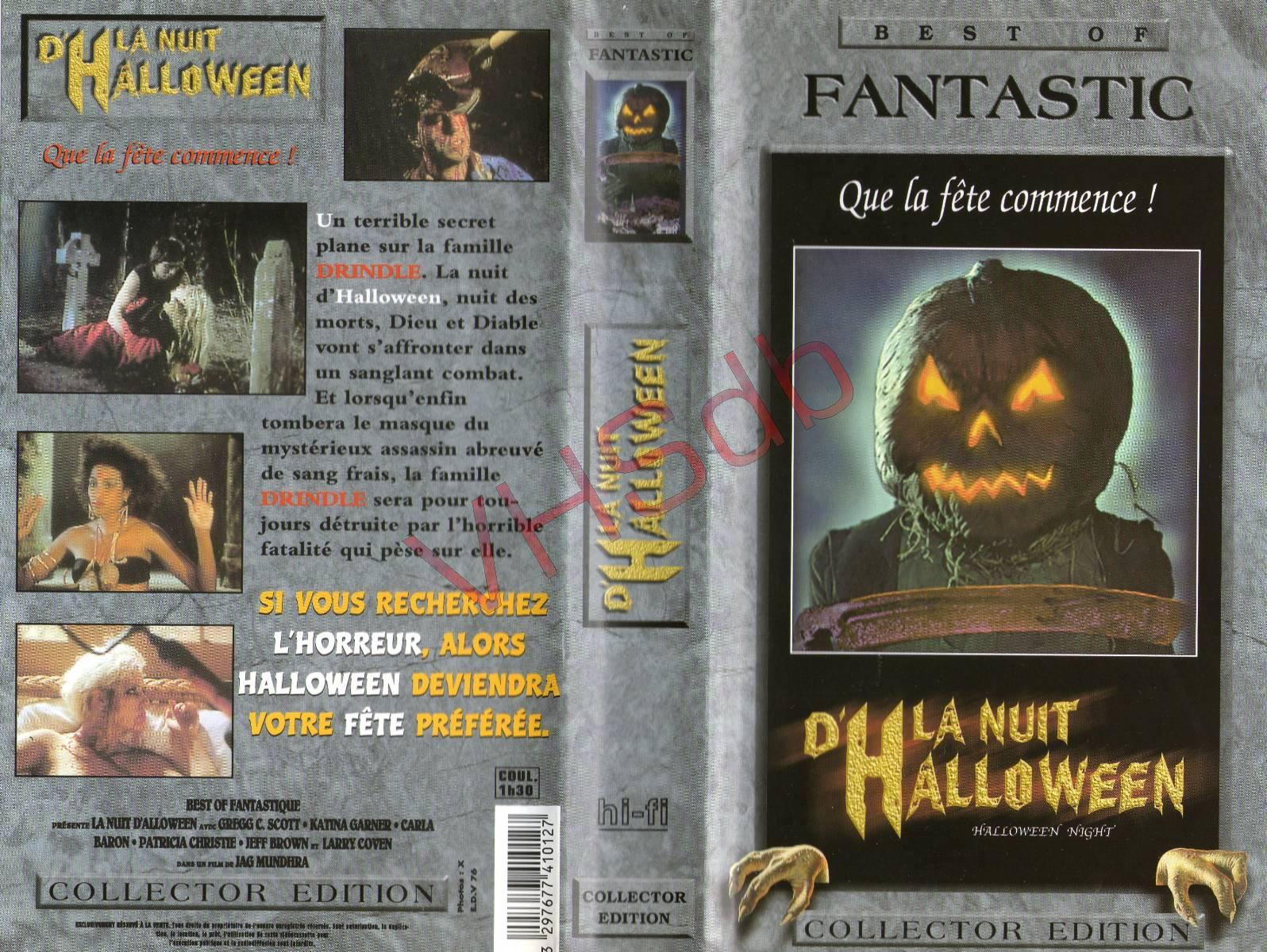 French VHS Cover With The Front Cover From The 1995 Film Jack O: