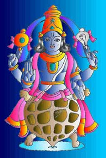 Picture of Kurma Avatar of Lord Vishnu