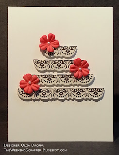 Handmade clean and simple black and white card