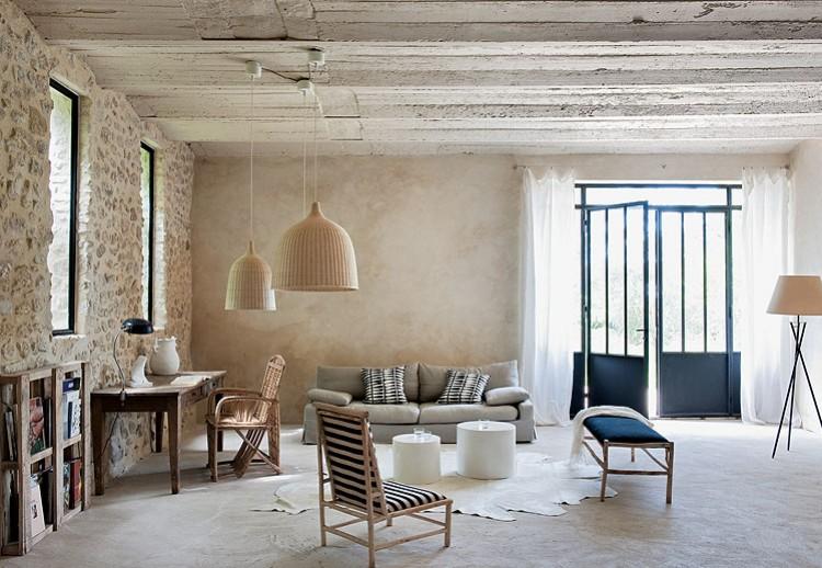 La casa de los pinos la belleza de la fusi n decoraci n - Maison de campagne design ...