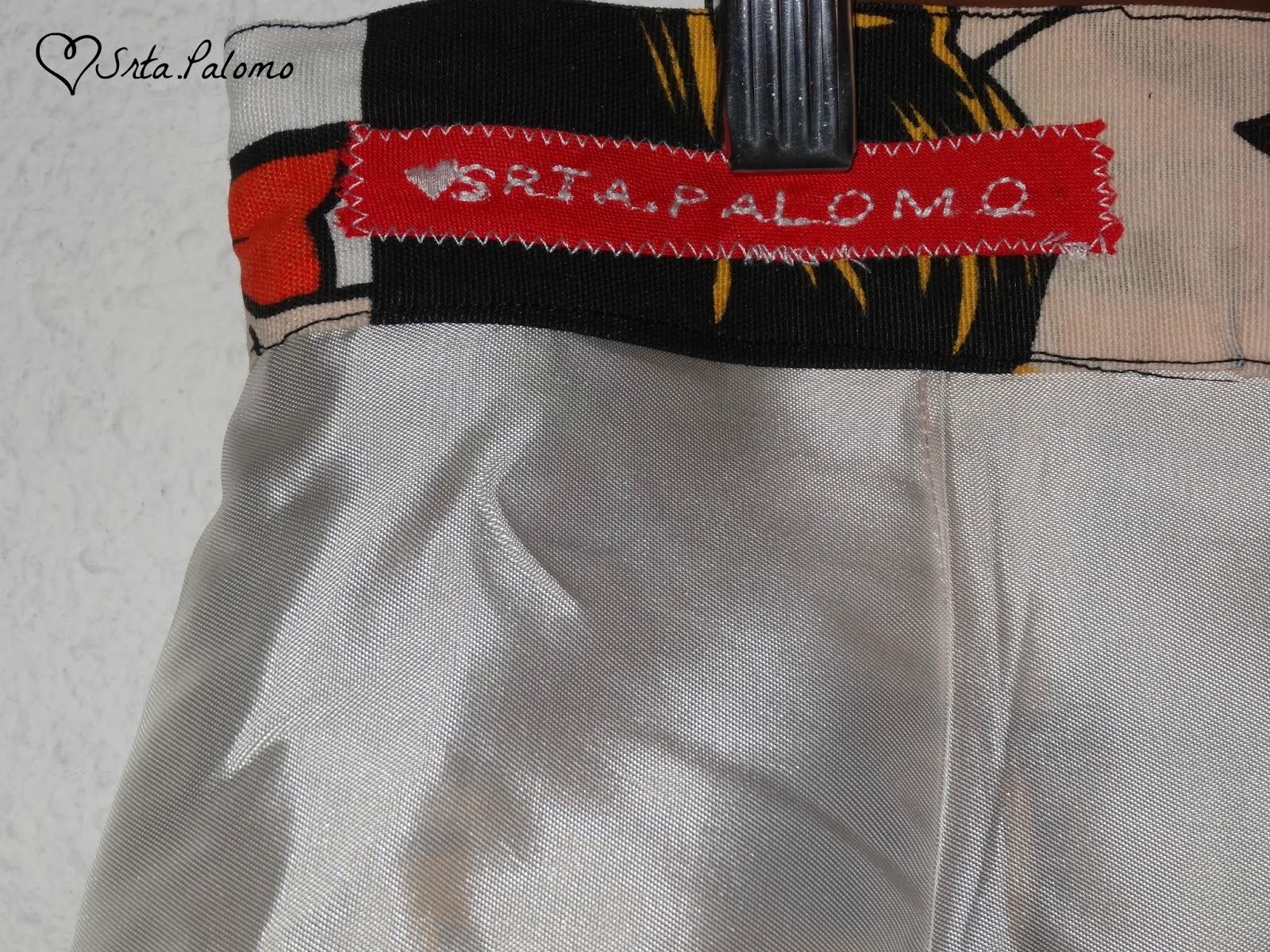 etiqueta falda handmade