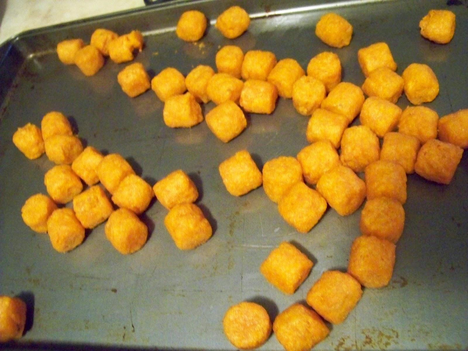 The Sweet Potato Puffs are simple to bake. The Sweet Potato Puffs take ...