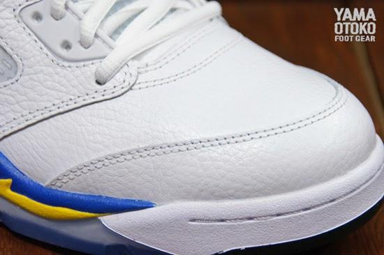 Air Jordan 5 Retro Laney White Royal Maize shoes