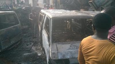 At least seventeen vehicles were weekend mistakenly set ablaze by scavengers at Mgbuka Obosi market, Idemili North local Government of Anambra state