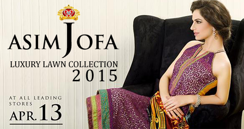 Asim Jofa Luxury Lawn Collection 2015 For Party Wear