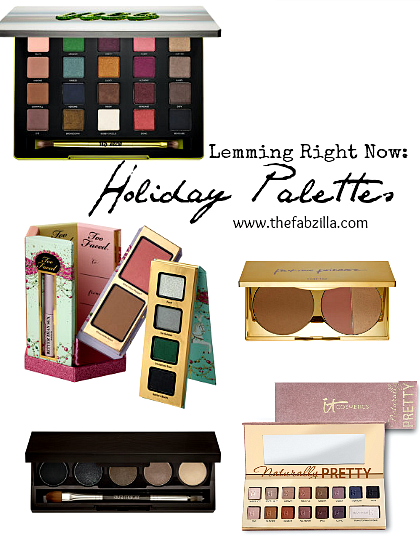 holiday palettes 2014, must-buy, must-have list, too faced la belle carousel, urban decay vice 3, tarte park avenue princess palette, laura mercier silky suede, it cosmetics luxe matte palette