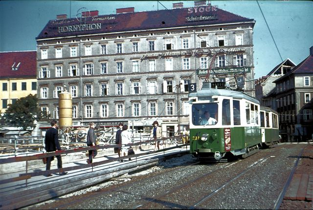 Here is a Graz tram in the 60s.