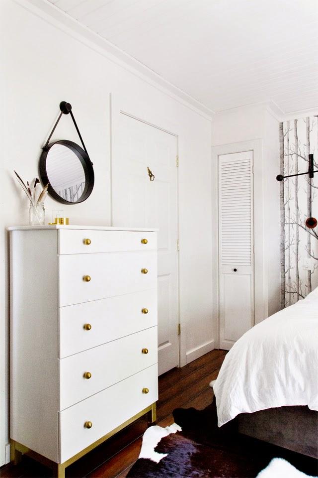 IKEA Tarva Kommode in Weiß und Messing - stylischer Selbermachen-Tipp für Schlafzimmer und Flur