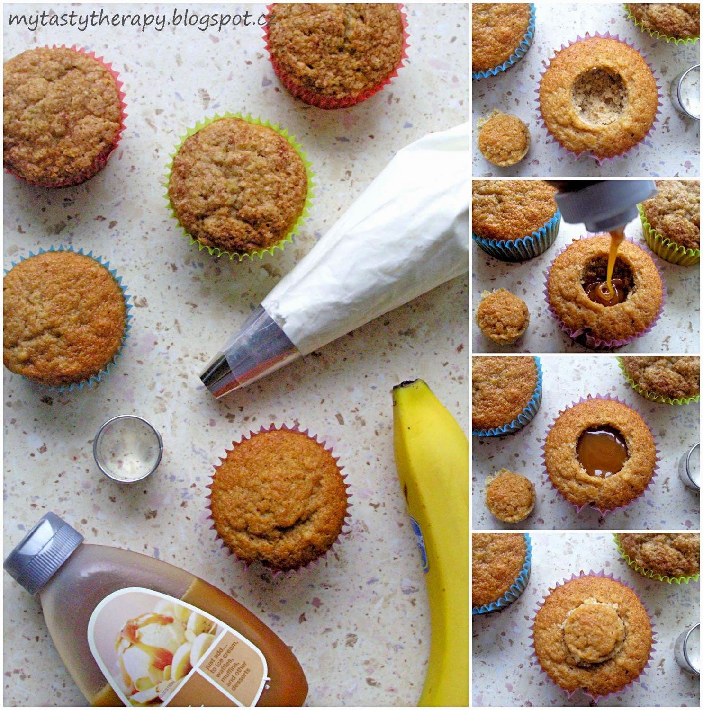 banamelové cupcakes - postup