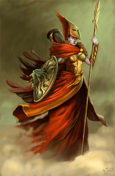 Goddess Athena Image, Artwork and Illustration