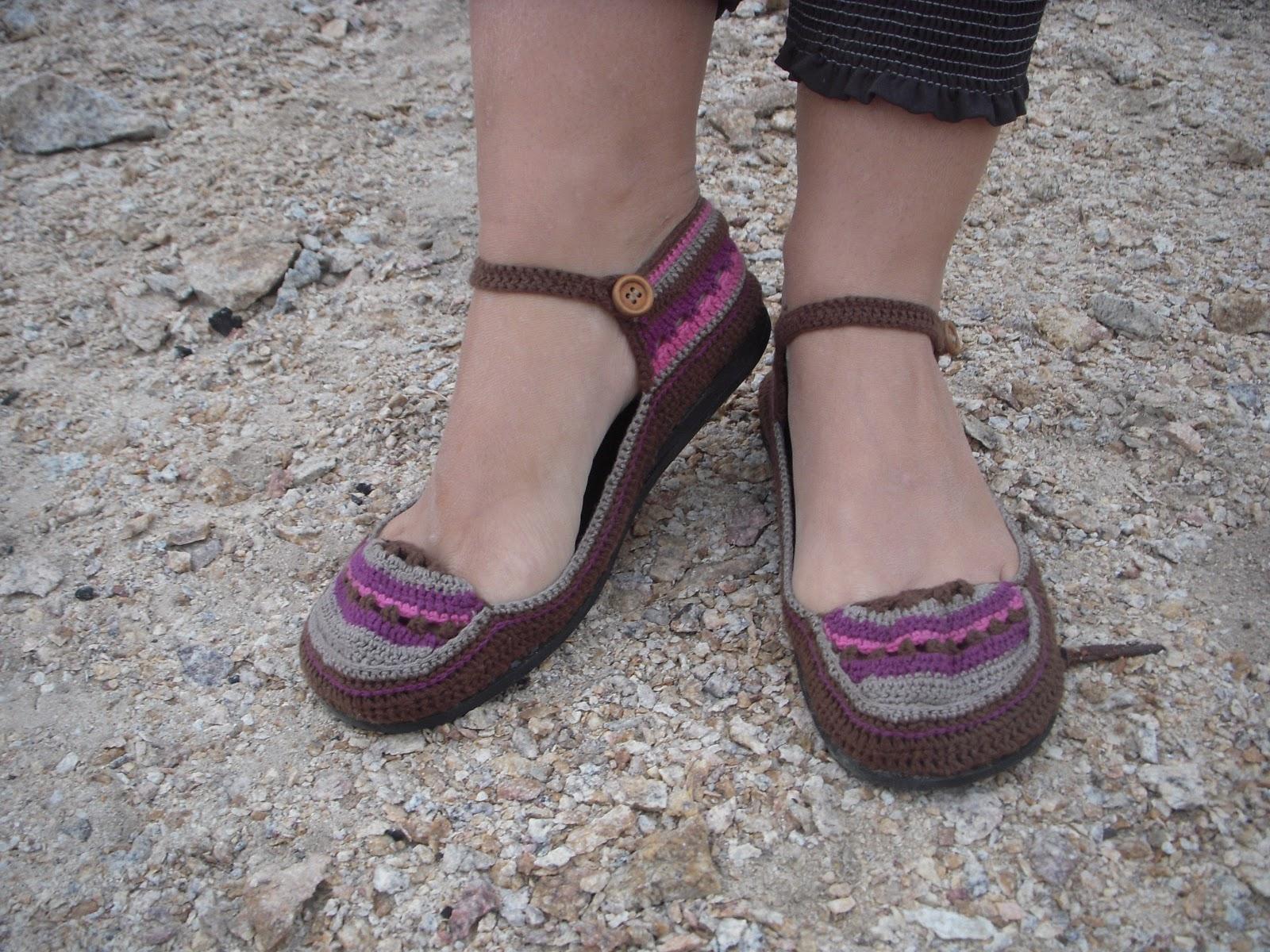 Zapatitos especiales para el verano! plantillas de cuero e hilos de ...