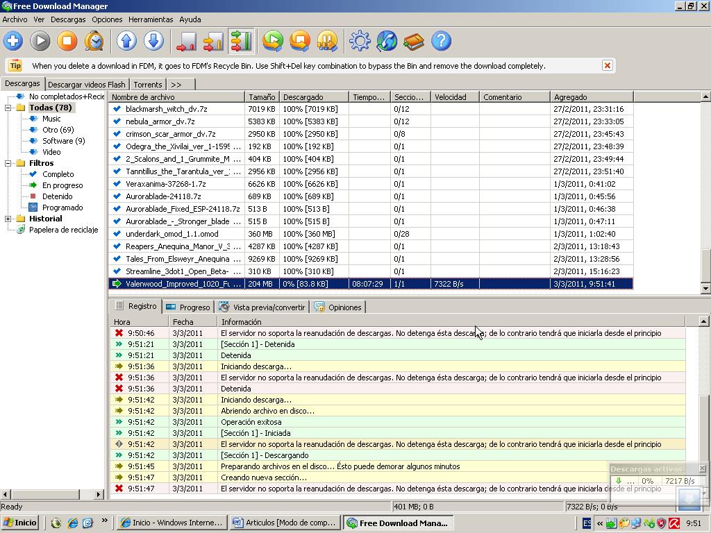 Informatica: Free Download Manager: descarga, para y reanuda cuando ...