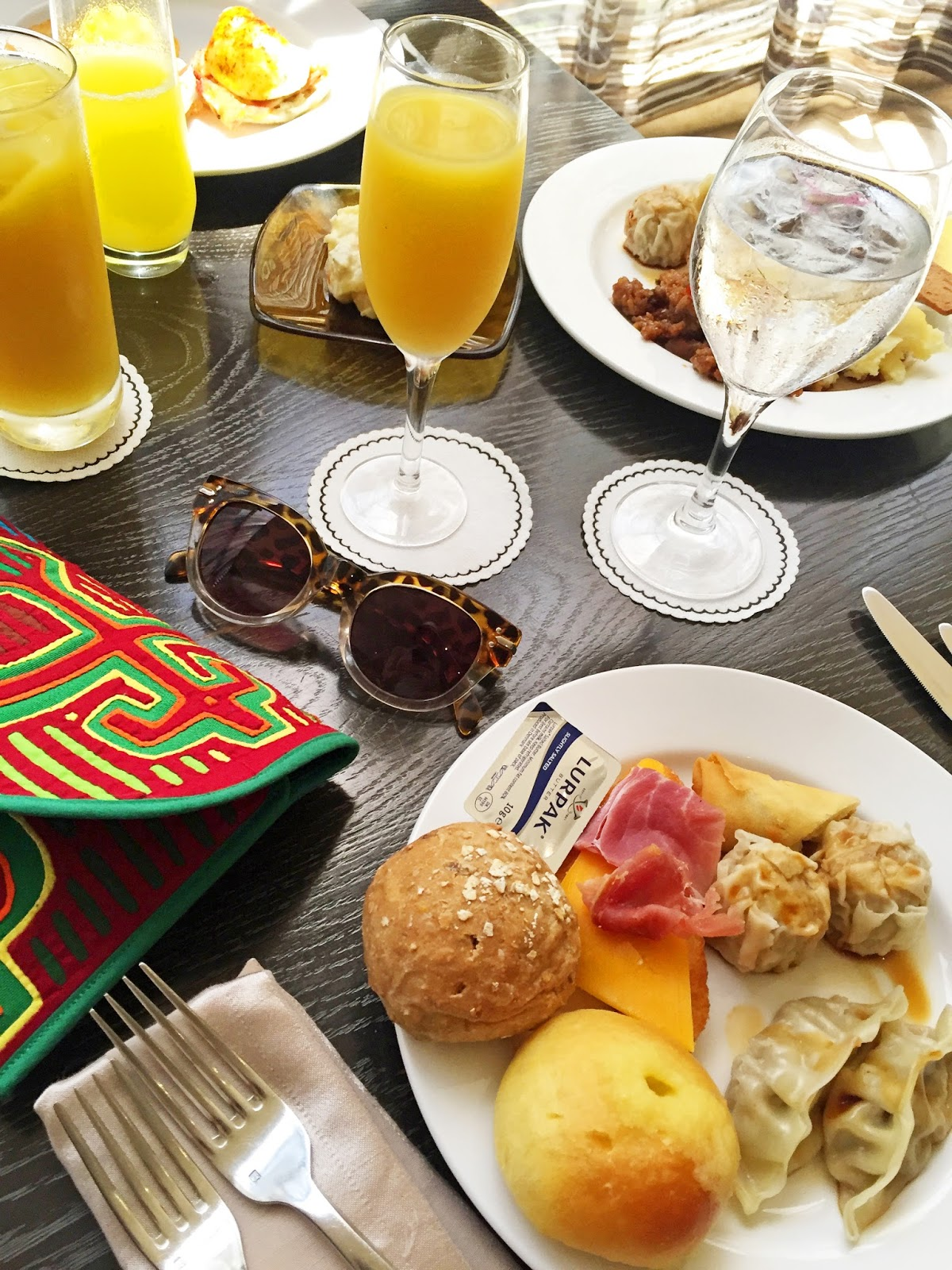 Delicious brunch at the Waldorf Astoria, Panama