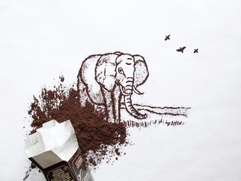 24-Elephant-Ioana-Vanc-Food-Art-using-Chocolate-Vegetables-and-Fruit-www-designstack-co