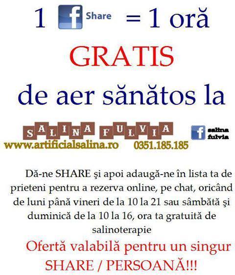 promovare 2.0, invitatie offline Salina Fulvia