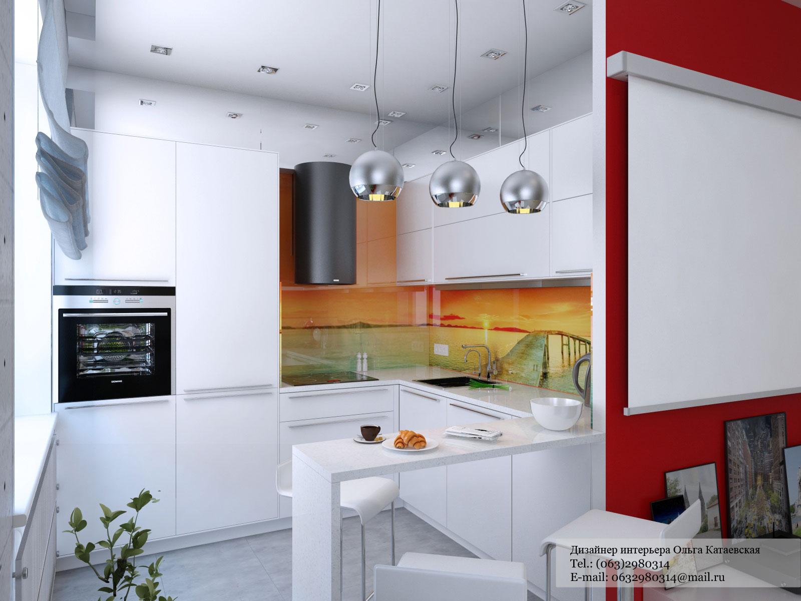 Варианты дизайна интерьера угловых кухонь.