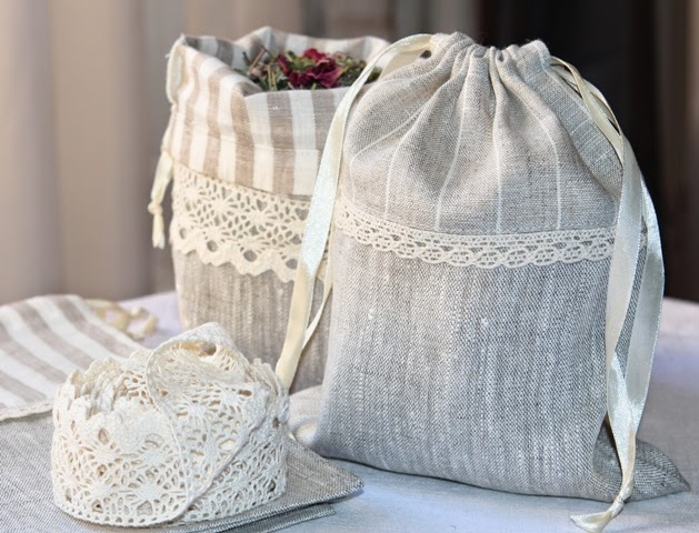 linen bags for presents and herbs