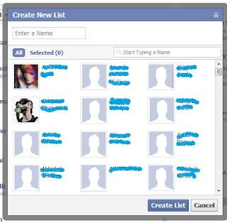 Create Friend List on Facebook