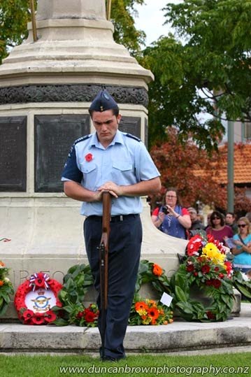 Not sure I could stay still that long - sentry duty at Havelock North Cenotaph photograph