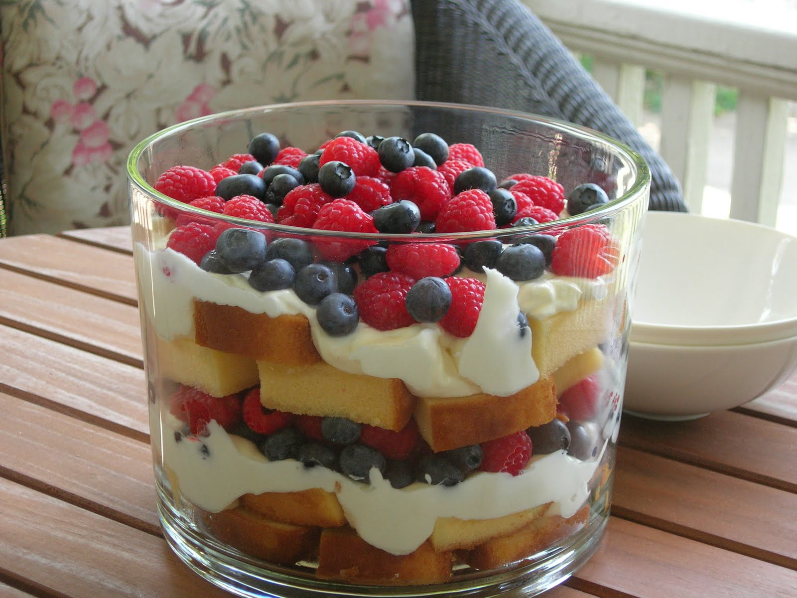 My Little Bungalow: 4th of July - Red, White & Blueberry Trifle