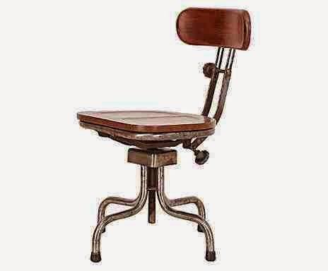 Krzesło obrotowe industrialne, krzesło do biurka w lofcie