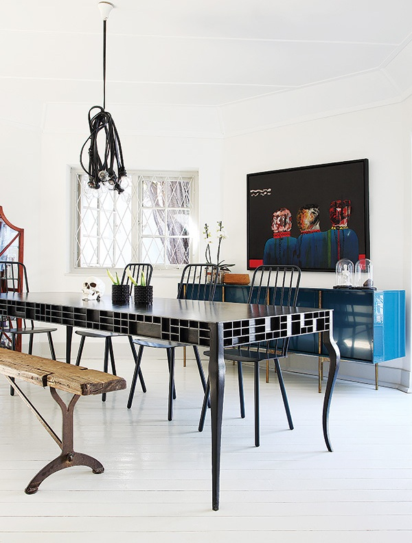 Rustica y chic rustic and chic for Mesa comedor negra