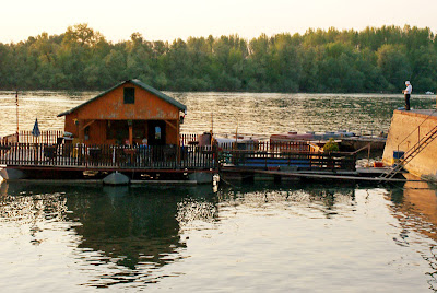 Boathouse on the Danube River