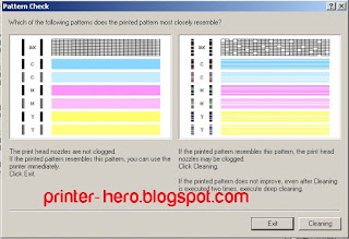 Cara mengetahui kondisi cetak printer melalui print Nozzle Check pada printer Canon