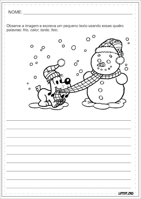 Produção Textual Natal Turma da Mônica
