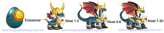 imagen del crecimiento del dragon odin