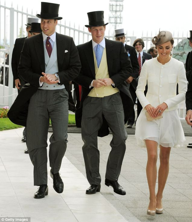 Kate and Wills enjoy a day at the races... and the Queen keeps smiling