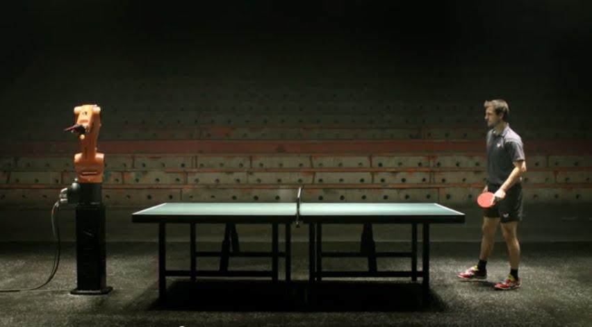 ついに公開された!『人類 VS KUKA社の産業用ロボット』による卓球対決!