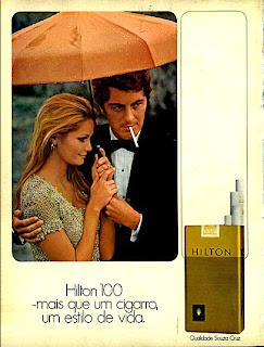 propaganda cigarro Hilton anos 70;propaganda anos 70; história decada de 70; reclame anos 70; propaganda cigarros anos 70; Brazil in the 70s; Oswaldo Hernandez;