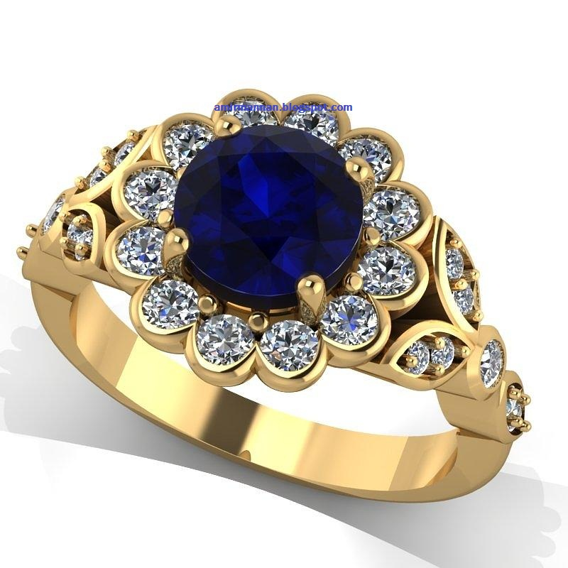 Engagement Ring : Blue Sapphire Girls Engagement Rings 41