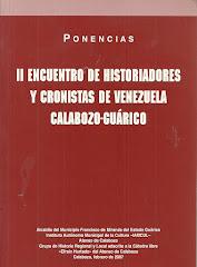 II ENCUENTRO DE HISTORIADORES Y CRONISTAS DE VENEZUELA.