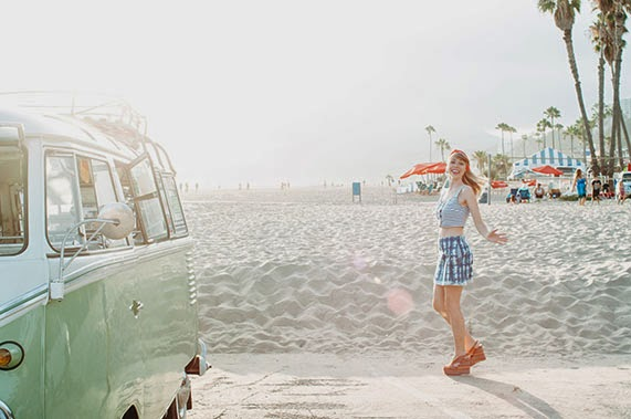 ShopGoldrush, denim, bleached, volkswagen, summer, california, sunset
