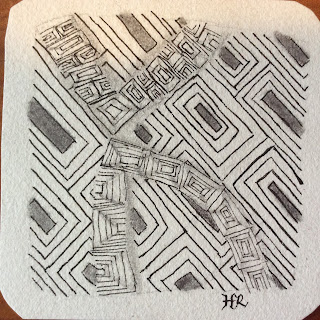 Zentangle, Diva Challenge #220, All Boxed Up, String #156