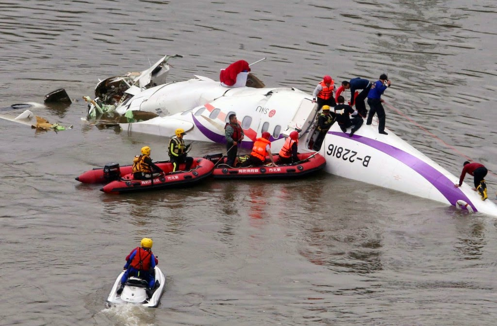 TransAsia, repülőgép baleset, utasszállító repülőgép, Tajvan, ATR-72